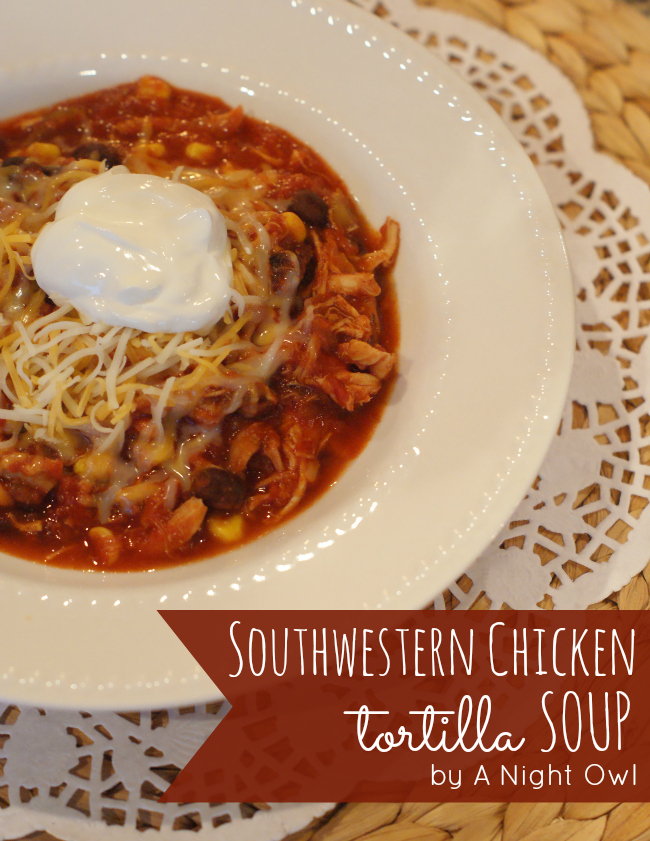 Southwestern Chicken Tortilla Soup with Classico Tomatoes #CookClassico