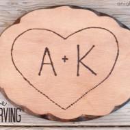 True Love Tree Carving