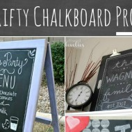 {Thrifty Thursday} 10 Thrifty Chalkboard Paint Projects