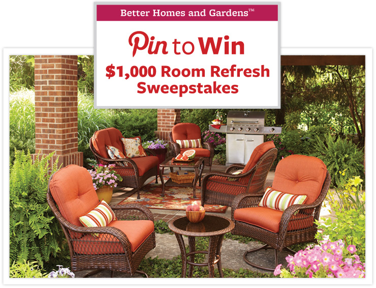 BHG @Walmart Pin to Win Room Refresh Sweepstakes