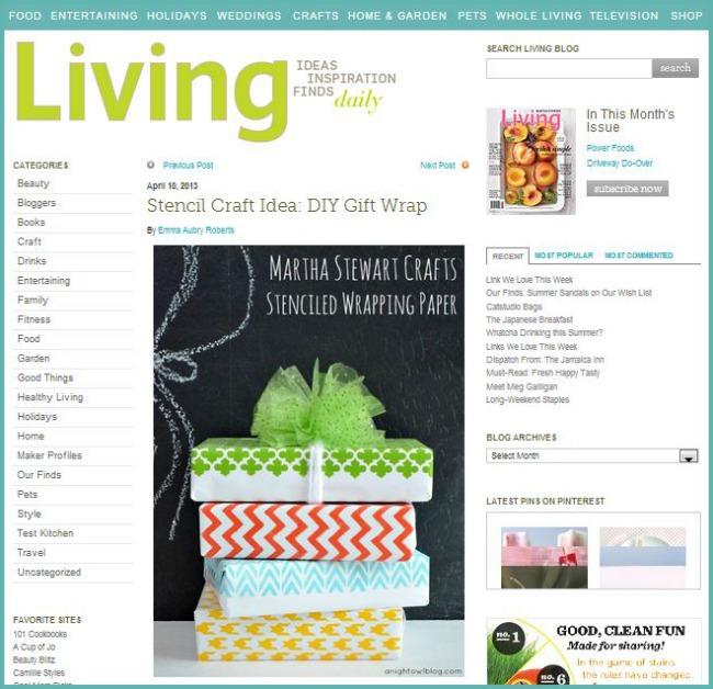 As Seen On - Martha Stewart Living Blog