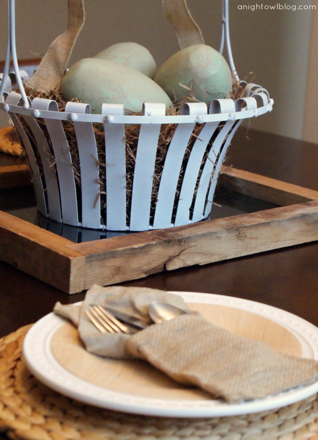 Easter Tablescape at A Night Owl Blog #easter #decor