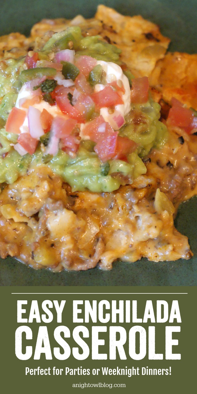 Love enchiladas but don't have the time to prepare? Pull this EASY ENCHILADA CASSEROLE together in minutes with the same great taste!