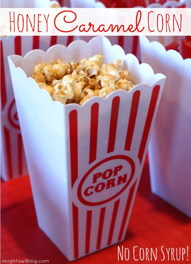 Honey Caramel Corn - made with zero corn syrup but just as delicious! #caramel #corn #recipes