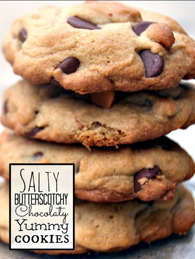 Salty Butterscotchy Chocolaty Yummy Cookies - YUM!