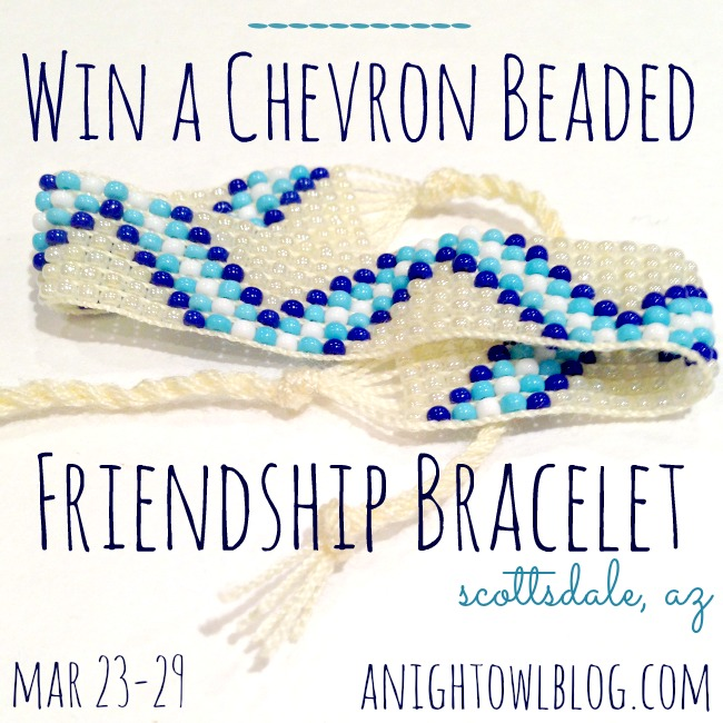 Scottsdale Chevron Beaded Friendship Bracelet Giveaway