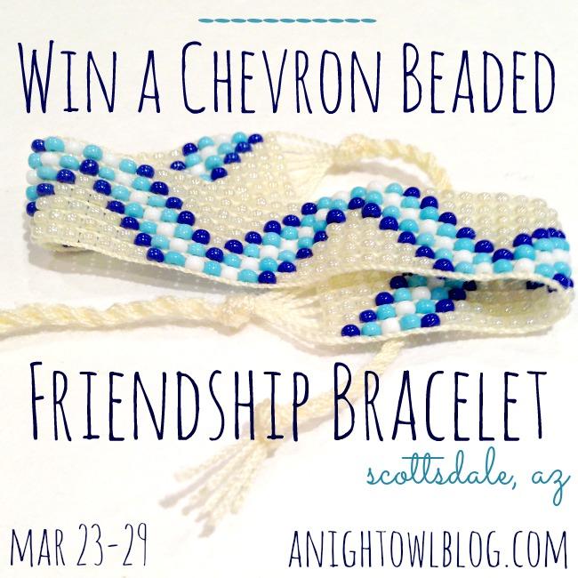 Scottsdale Chevron Beaded Friendship Bracelet Giveaway