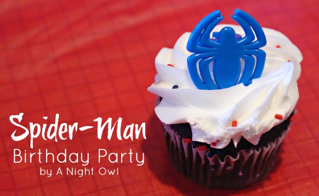 Spiderman Birthday Party by { anightowlblog.com } #spiderman #birthday #party