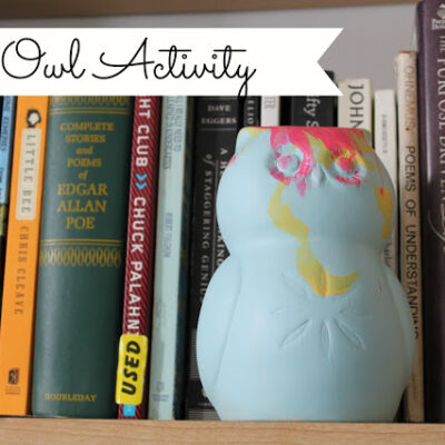 Easy Owl Painting Activity at { anightowlblog.com } #kids #activities #owls