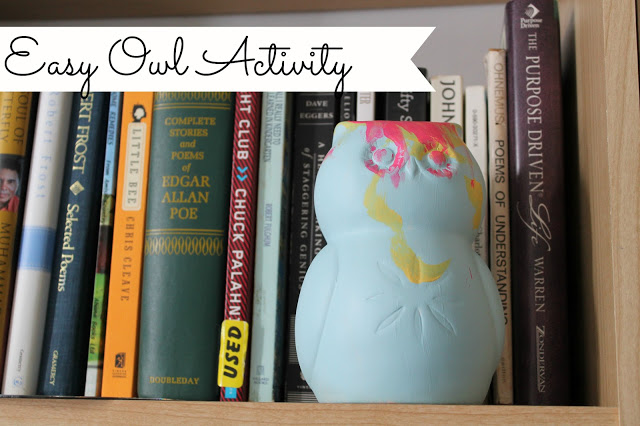Kids Craft Ideas - an Easy Owl Painting Activity at { anightowlblog.com } #kids #activities #owls