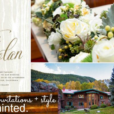 Aspen Wedding, see more wedding invitations on Minted