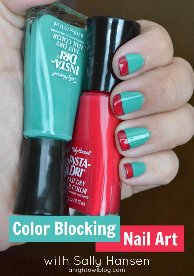 Color Blocking Nail Art with Sally Hansen #IHeartMyNailArt | A Night ...