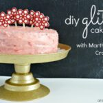 DIY Glitter Cake Plate and Flower Toppers