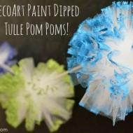 DecoArt Paint Dipped Tulle Pom Poms