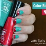 Color Blocking Nail Art with Sally Hansen #IHeartMyNailArt