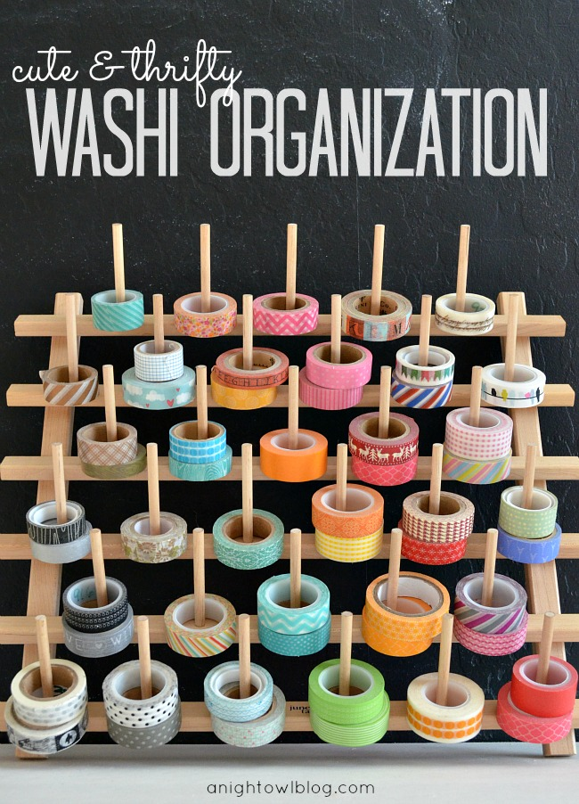 Such a fun way to organize your collection of washi tape! #washi #washitape #organization