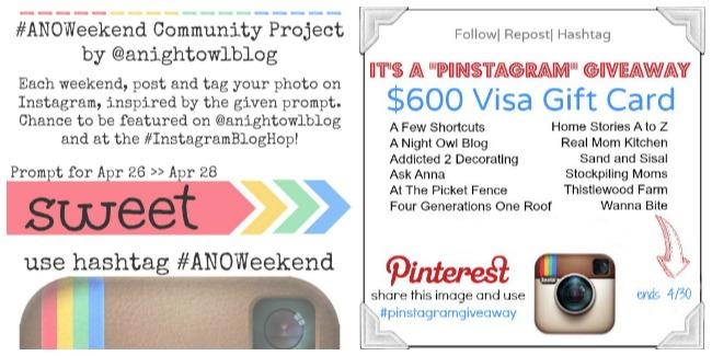 #anoweekend and #pinstagramgiveaway