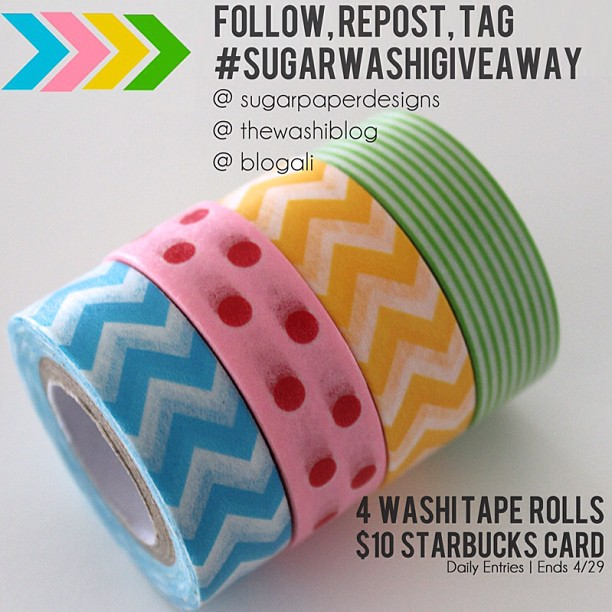 The Washi Blog Instagram-Only Giveaway