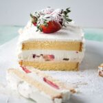 Strawberries and Cream Ice Cream Cake