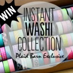 {Giveaway} The Plaid Barn Instant Washi Collection
