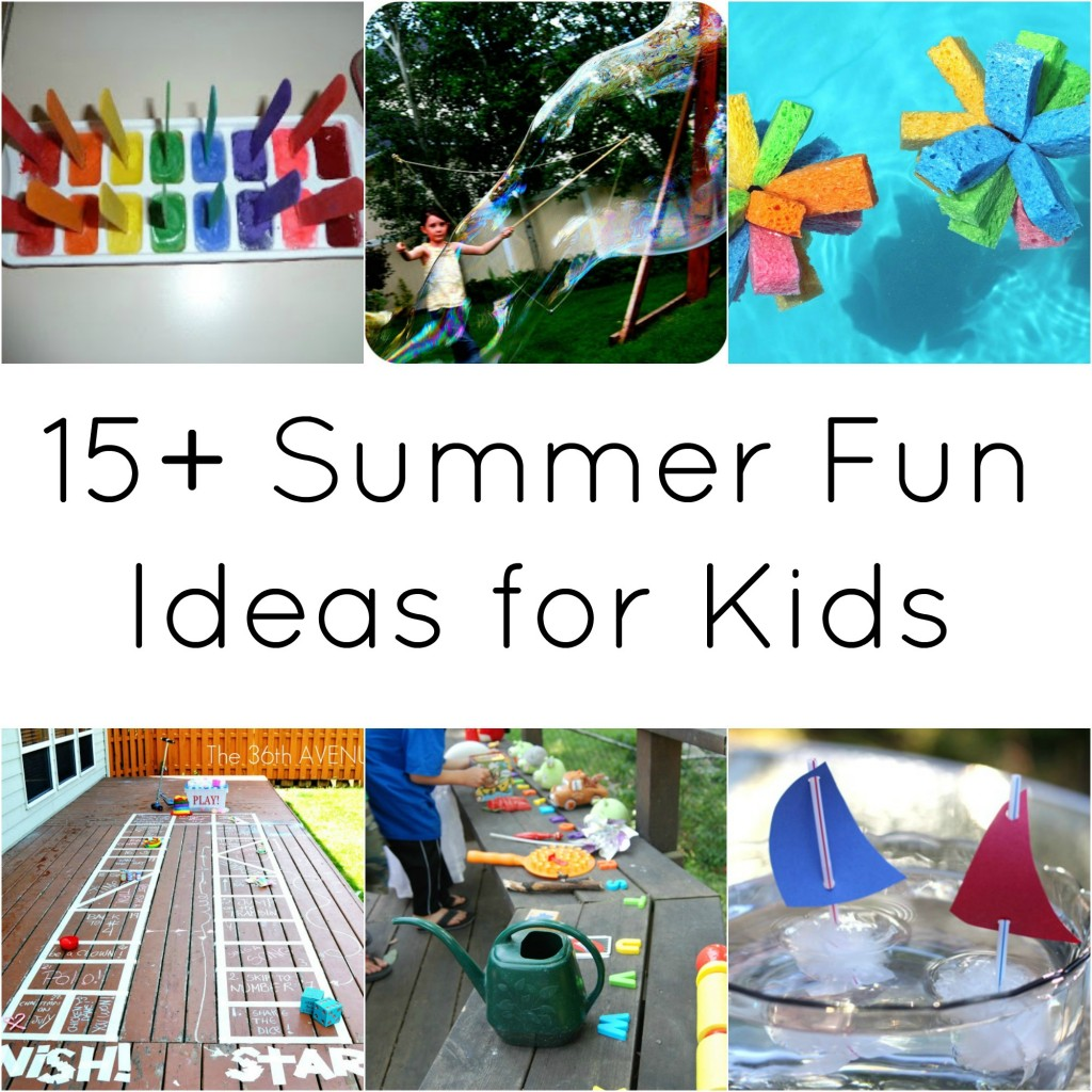 15 summer fun ideas for kids a night owl blog for Fun blog ideas