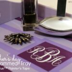 DIY Mother's Day Monogrammed Tray