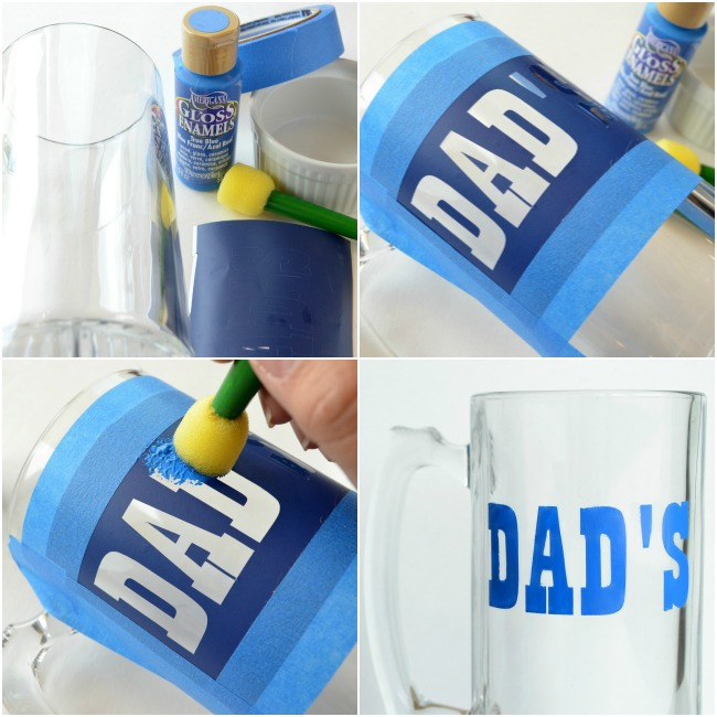 Father's Day Dad's Mug with DecoArt Gloss Enamels Tutorial