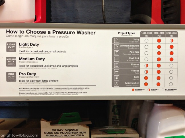 Helpful charts at The Home Depot make those hard decisions easier!