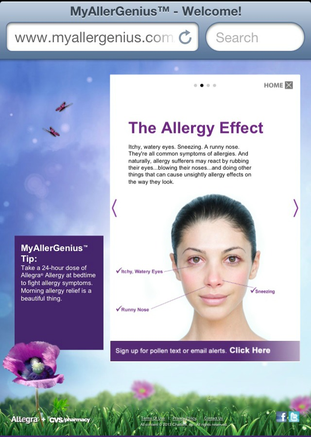 Allegra Allergy Solutions at CVS #MyAllerGenius