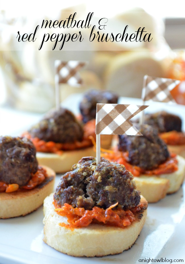 Meatball and Red Pepper Bruschetta - Recipes from World Market