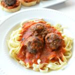 Meatloaf Meatballs and Pasta