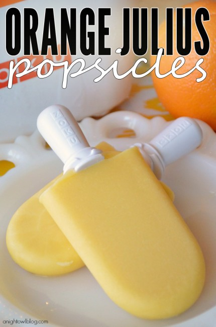 Oh my! These popsicles taste just like an Orange Julius smoothie. So yum!