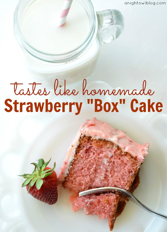 Tastes Like Homemade Strawberry Box Cake #cake #recipe