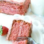 Tastes Like Homemade Strawberry Box Cake #cake #recipe