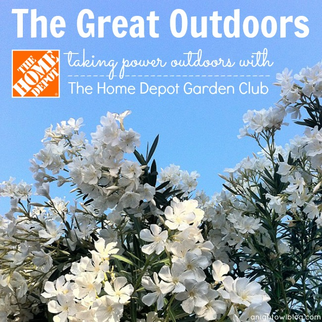 The Great Outdoors - Taking power outdoors with The Home Depot Garden Club #DigIn
