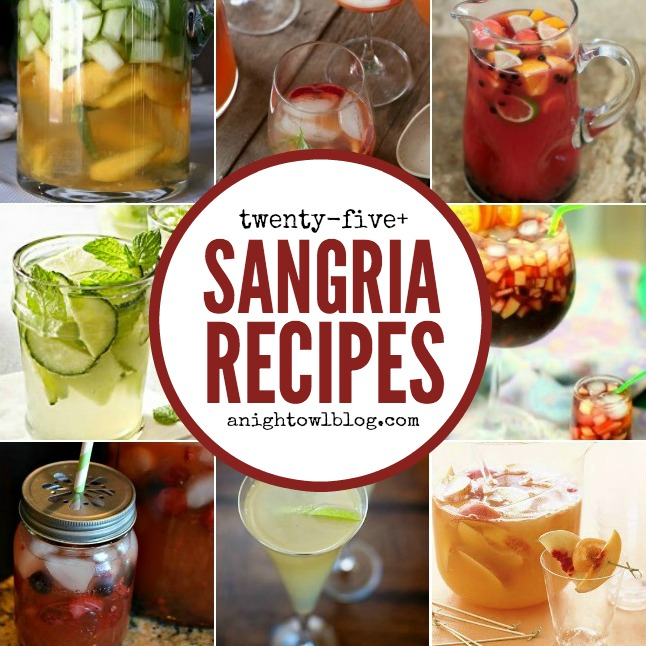 25 Sangria Recipes | anightowlblog.com