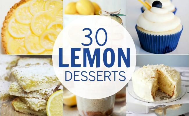 30+ Luscious Lemon Desserts | A Night Owl Blog