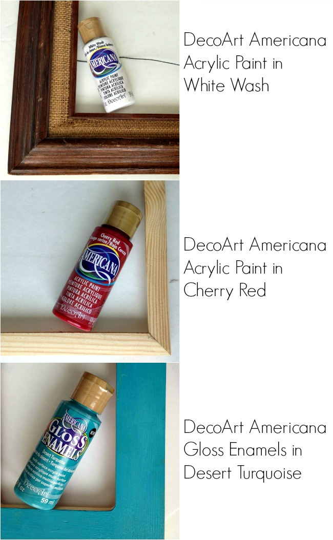 DecoArt Paints for a Patriotic Mantel