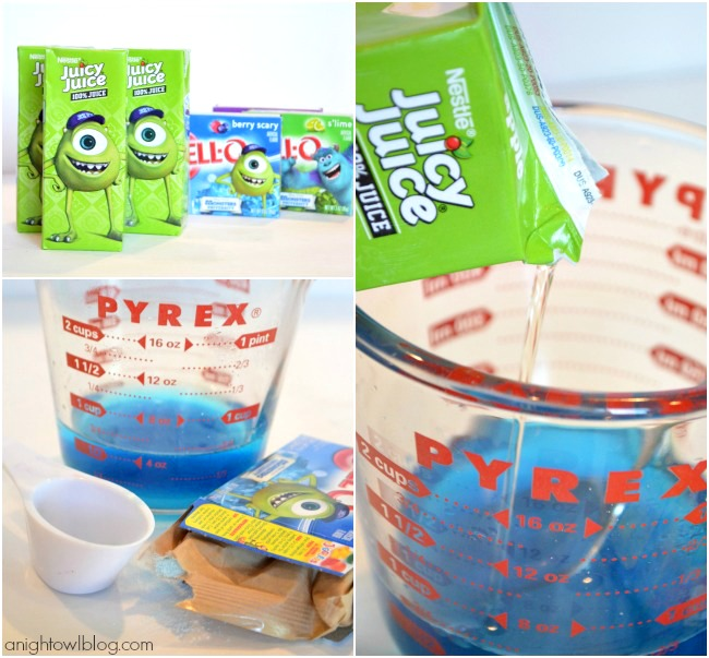 How to make Mike and Sulley Popsicles with Nestle Juicy Juice! #MUJuice