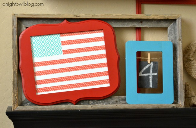 A Patriotic Mantel with DecoArt Paints