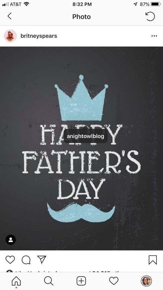 britneyspears happy father's day anightowlblog