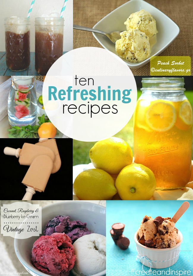 10 Refreshing Recipes >> #CreateandInspire Features