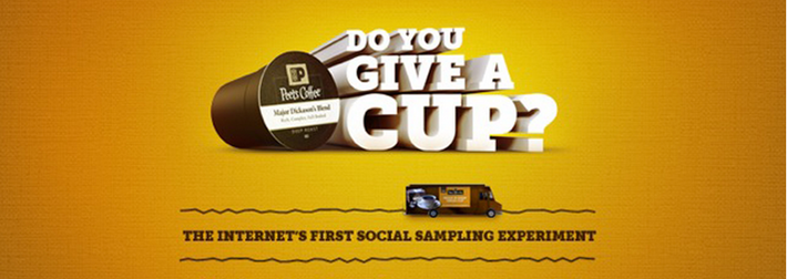Do you give a cup? Peet's is giving away new Single Cups. You decide who gets them in this social sampling experiment.