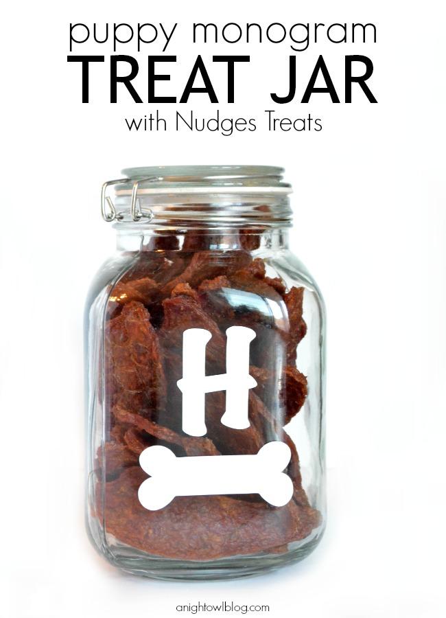 DIY Puppy Monogram Treat Jar