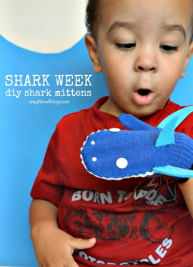 Shark Mittens | #kids #crafts #sharks #sharkweek