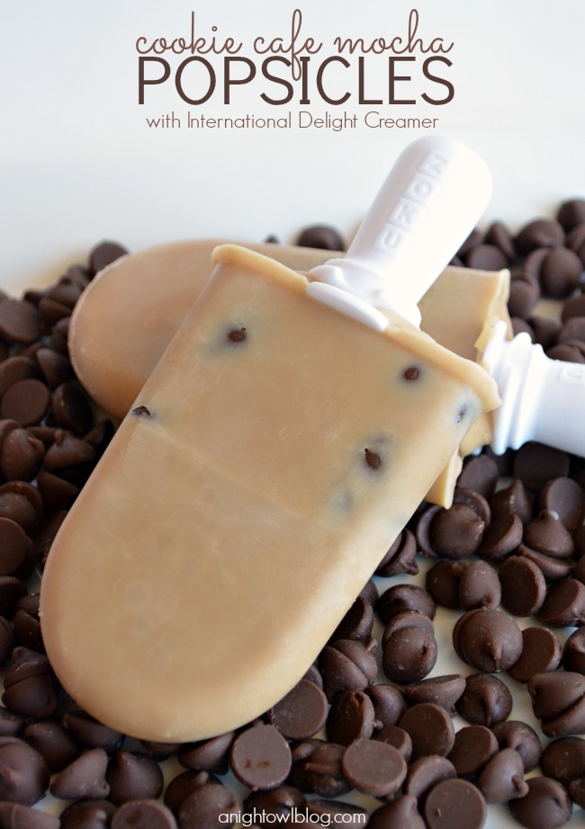 Cookie Cafe Mocha Popsicles with International Delight | #summer #popsicles #coffee #iscream4id #indelight #coldstone