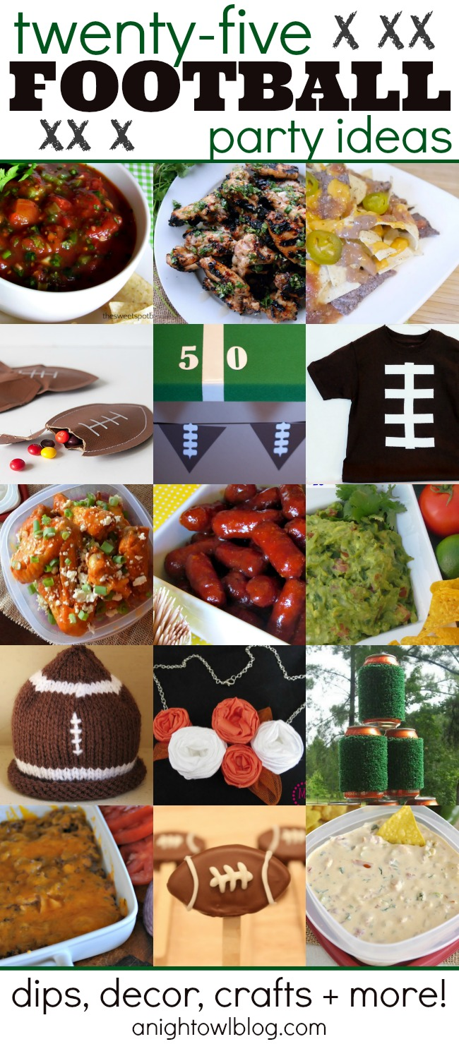 25 Football Party Ideas - Food, Crafts and More!