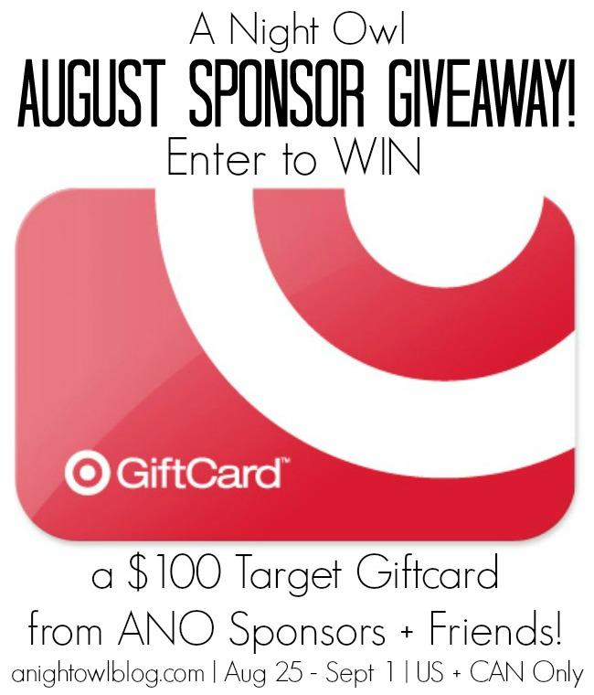 $100 Target Gift Card Giveaway | anightowlblog.com | August 25 - September 1