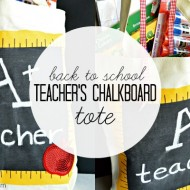 Back to School Teacher's Chalkboard Tote with Michaels