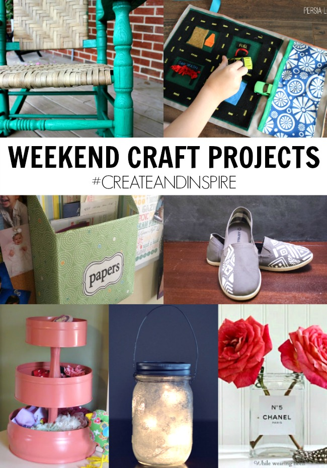 Weekend Craft Projects >> #CreateandInspire Party Features